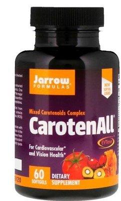 Jarrow Formulas,CarotenALL(類胡蘿蔔素+蝦紅素+葉黃素+番茄紅素)維生素A,60粒*百合麻雀*