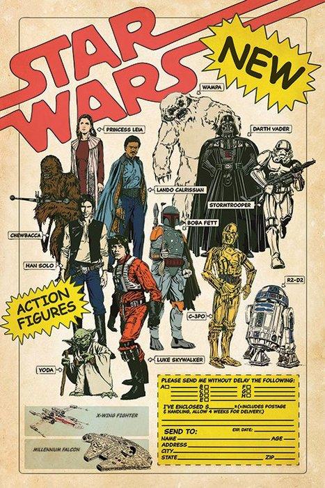 英國進口海報 PP34635( 星際大戰 Star Wars Action Figures)