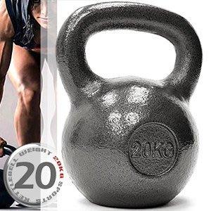 KettleBell實心鑄鐵20公斤壺鈴44磅運動20KG壺鈴競技拉環啞鈴搖擺鈴舉重量C195-2020【推薦+】