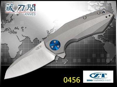 《藏刀閣》ZERO TOLERANCE-(0456)雷切鈦柄折刀