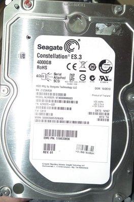 故障sas scsi 4t硬碟seagate st4000nm0023 4tb 3.5吋硬碟 7.2k 壞軌 壞掉 台北市