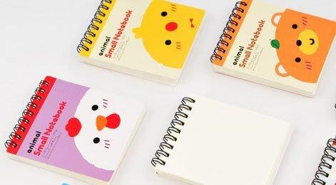 日韓文具 可愛動物系列 線圈本 記事本 日記本 塗鴉本 幼兒 速寫 美勞 勞作 隨手 草莓熊雜貨店