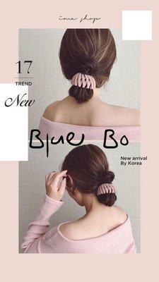 ~*BlueBo*~ 韓國飾品  特價款 絨面魔法伸縮髮束 盤髮神器