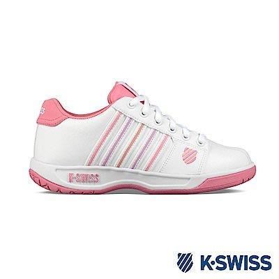 塞爾提克~免運 KSWISS 女鞋款 EADALL 女生 休閒運動鞋(皮質-白粉紅)91353167