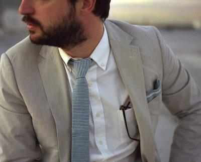 THE HILLSIDE 美國製造 紐約設計 古董織布邊 頂級質感手打領帶 米白綠條紋 文青平口窄版領帶 文青 正品現貨
