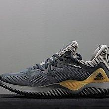 D-BOX Adidas Alphabounce 黑灰 金 透氣 襪套 復古慢跑鞋 運動鞋