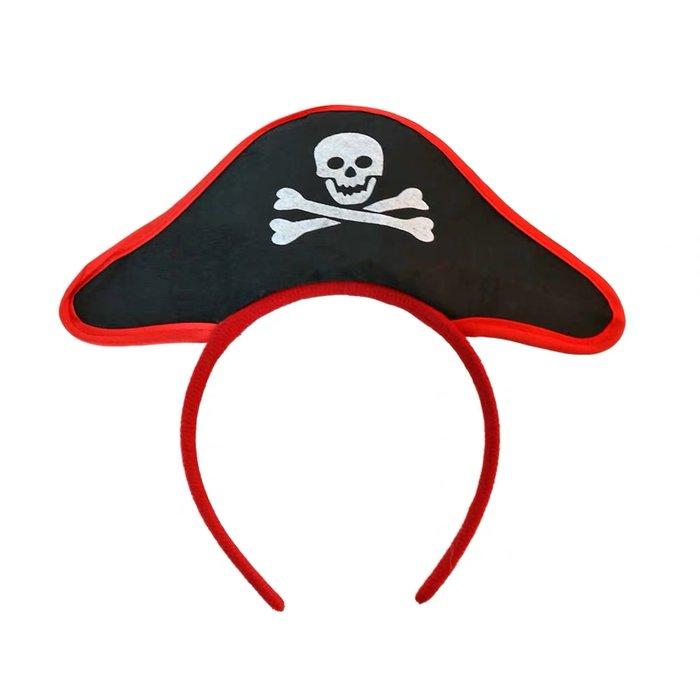 艾蜜莉舞蹈用品*表演道具*髮箍-骷髏頭海盜髮箍/頭箍$50元