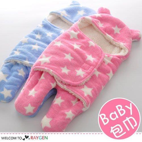 八號倉庫  秋冬滿天星加厚保暖嬰兒分腿式睡袋 包巾【3E062E978】