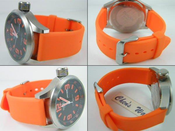 【錶帶家】22mm PU 膠帶代用Panerai 沛納海 TISSOT SINN SEIKO FORTIS 橘色多色