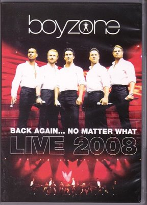 音樂居士#Boyzone Back Again No Matter What Live 2008 男孩地帶 2D9 DVD