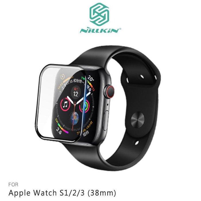 *Phone寶*NILLKIN Apple Watch S1/2/3 3D AW+ 全膠滿版玻璃貼 鋼化玻璃