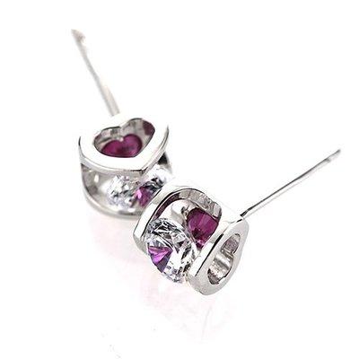 【頂級美國ILG鑽飾】八心八箭耳環-Heart系列 獨特鑲鑽設計 耳環- 【ER109】
