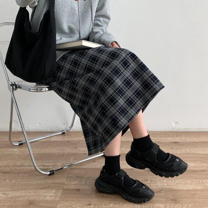 【S6475】3A13復古格子長裙3色F.預購。小野千尋