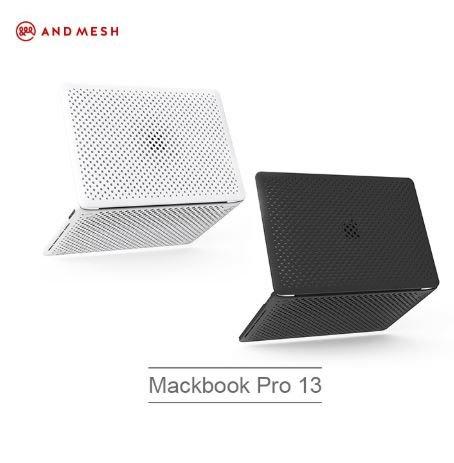 【貝殼】日本ANDMESH QQ網點軟質防撞保護套-Macbook Pro 13 (2016~2018)
