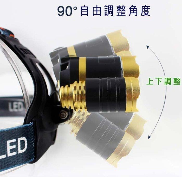 可變焦 (頭燈之王)亮度直逼3600流明 L2頭燈(保護版)2顆鋰電全配組 超強光 超遠射 自行車 頭戴式 LED 頭燈