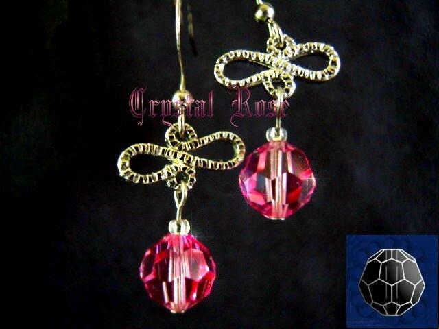 ※水晶玫瑰※ SWAROVSKI 8mm水晶珠 耳勾式針式耳環(DD337)~出清~三對免郵