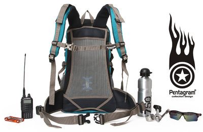旅行背包折扣 Pentagram 五角星30L 防潑男女戶外登山包雙肩騎行背@xi02129