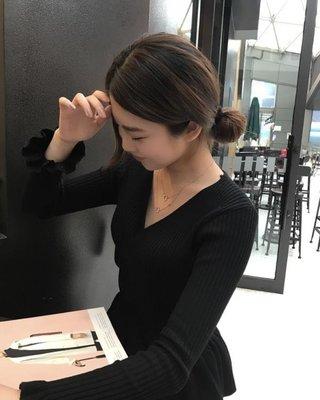 微鑲鋯石幾何小圓圈簡約迷你項鏈韓國劇鎖骨鏈女簡約生日禮物X046Y-優思思