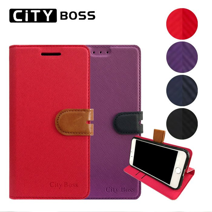 CITY BOSS 撞色混搭 5.7吋 HTC Desire 12S 手機套 磁扣皮套