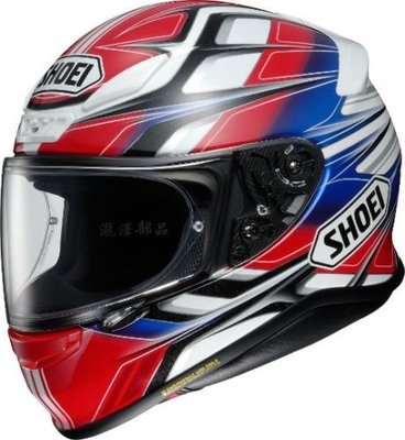 瀧澤部品 日本 SHOEI Z-7 全罩安全帽 RUMPUS TC-1 紅白 彩繪 小帽體 輕量 透氣舒適 通勤