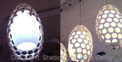 【SUN LIGHT 日光燈坊】橢圓簍空簡約單吊燈 ,另恐龍蛋水晶哥本哈根松果PH空中花園IQ設計師