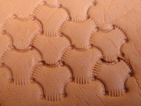 印花工具 打印工具 皮雕工具老 E684S 小 打印工具 0.9CM 三股編織紋 打印工具 皮雕材料 印花工具