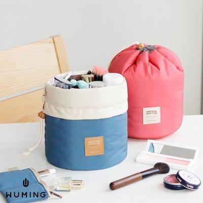 『無名』 韓版 多功能 圓筒 洗漱包 化妝包 束口袋 旅行 收納包 行李箱 收納袋 整理袋 出國 J04104