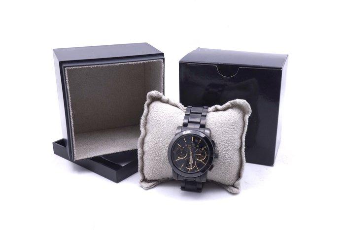 【台中青蘋果】agnes b. 魔幻炫金三眼計時腕錶 BWY063P1 石英錶 #12046