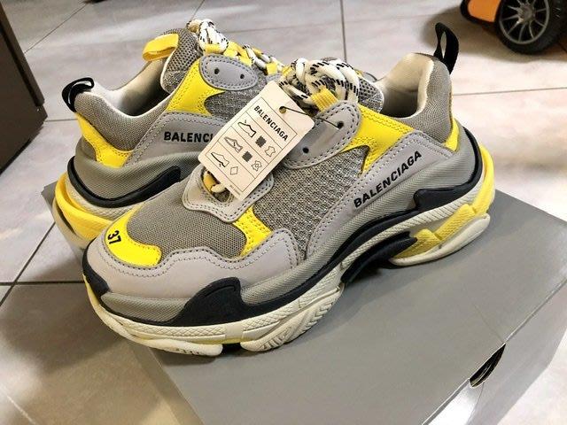 全新Balenciaga老爹鞋Triple s 37號灰色和