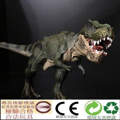 綠色奔跑暴龍 DM01 恐龍 模型 動物行走霸王龍 玩具 另售 雙冠龍 棘龍 三角龍腕龍迷惑龍翼龍牛龍 非 PAPO