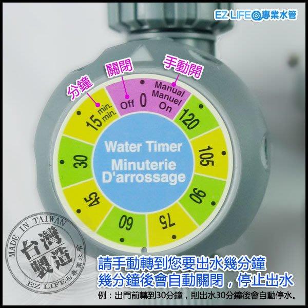 【EZ LIFE@專業水管】居家灑水定時器,不用電池!下次要再澆水時,要再轉一次