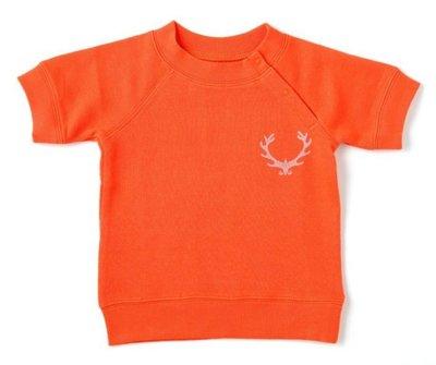 日本DADWAY純棉短袖上衣(橘色)-80cm & 90cm clearance sale