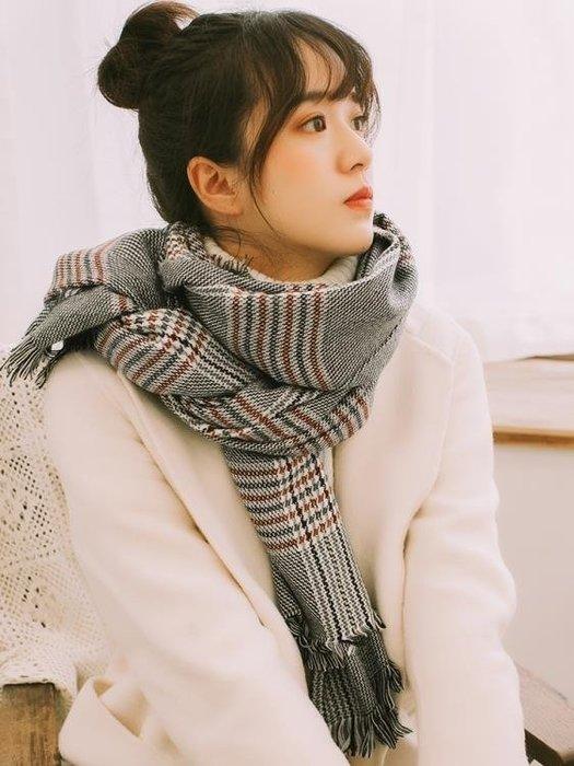 圍巾女冬季韓版百搭長款加厚保暖學生仿羊絨秋冬兩用披肩毛線圍脖