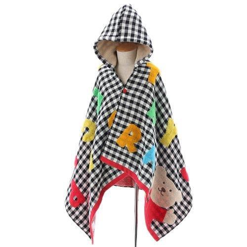 ◎Life Sense◎【Rainbow Bear 彩虹熊】日本製PLAY帶帽浴巾 洗澡斗篷 披風巾 毛巾 連帽