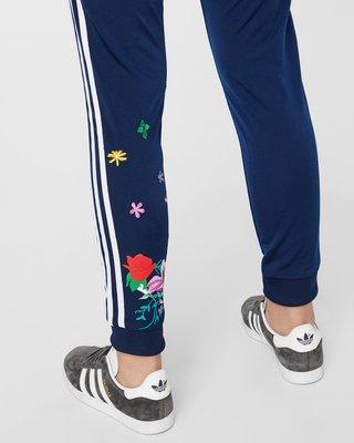 快閃六折 FOCA  ADIDAS ORIGINALS 愛迪達 三條 運動褲 深藍 花花  運動褲 ed6586 縮口褲