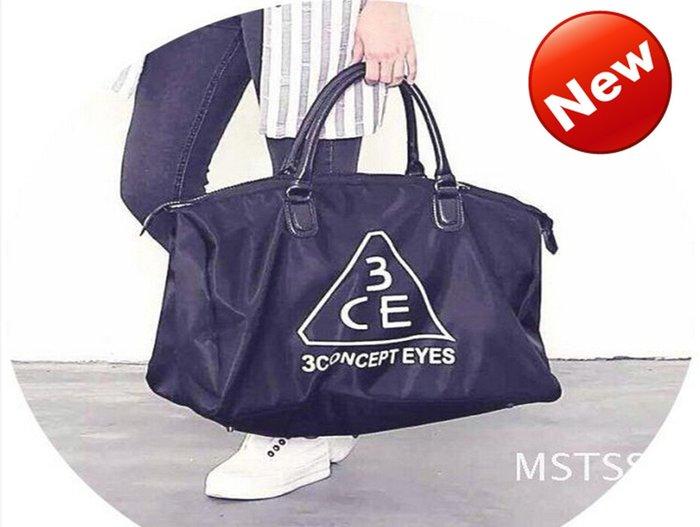 超值大容量(最新現貨)韓國3CE 黑色 健身包/旅行包/手拿包/旅行袋/出國行李包--多用途大包