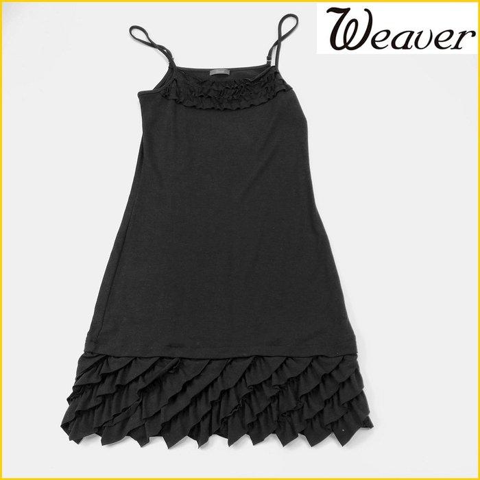 日本二手衣✈️WEAVER 日本品牌 黒色 細肩帶洋裝 彈性 平口洋裝 露肩短洋裝 日本女裝 *M号* A3162W