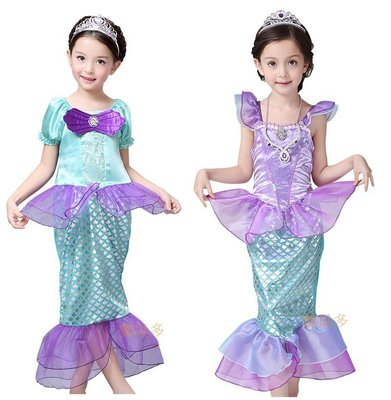 萬聖節服裝,萬聖節裝扮,聖誕舞會,兒童變裝服-美人魚服裝