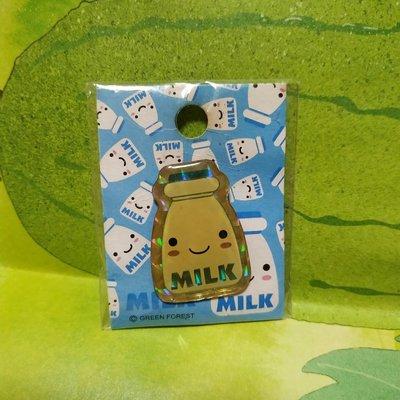牛奶造型徽章
