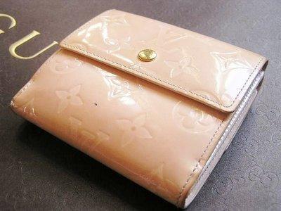 90%新「Louis Vuitton LV」正版M93529限量版Monogram Elise Vernis壓花漆皮錢包銀包,有散紙位[法國造]原$6950