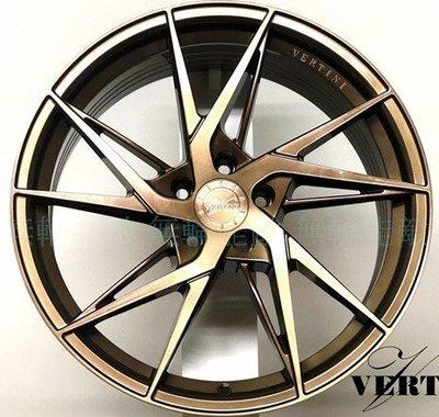 全新鋁圈 VERTINI RFS1.9 19吋 旋壓鋁圈 5孔108 5孔112 5孔114.3 古銅金 輕量化