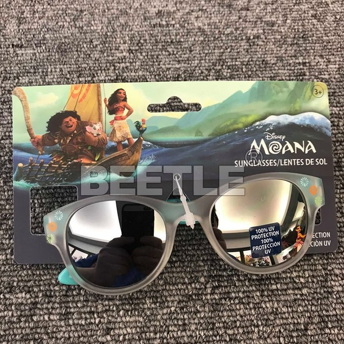 BEETLE DISNEY MOANA SUNGLASSES 海洋奇緣 迪士尼 兒童 太陽眼鏡 霧面 花紋 抗UV