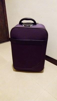 二手 20吋 紫色單向輪 密碼鎖 布質行李箱 登機箱 旅行箱