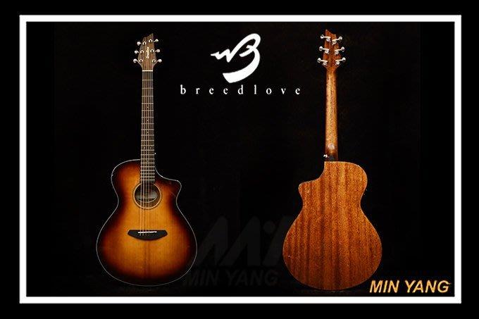 【民揚樂器】木吉他 Breedlove Discovery BREDCC21CEA OM 漸層面單 附原廠袋