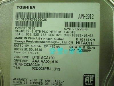 【登豐e倉庫】 Y321 Toshiba DT01ACA100 1TB SATA3 硬碟