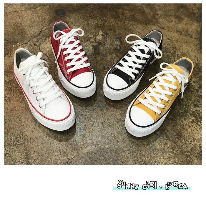 正韓休閒鞋*Sunny Girl*韓國代購olivia厚底餅乾鞋帆布鞋 2019十二月新款 - [WH1430]