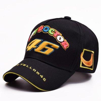 Moto GP 46號賽車帽 機車摩托車帽 戶外運動帽子 遮陽帽