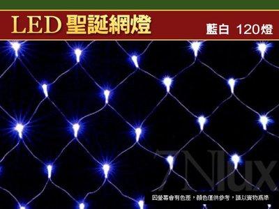 LED網燈120燈藍白☆6尺*4尺可串聯☆奇恩聖誕節慶裝飾/分電壓/選購跳機多變化CNY-50108