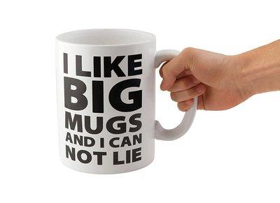 【丹】A_I Like Big Mugs... Gigantic Coffee Mug 巨大馬克杯 咖啡杯