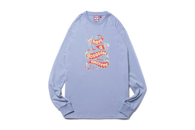 """[ LAB Taipei ] have a good time """"GOOD L/S TEE"""" (Cerulean)"""